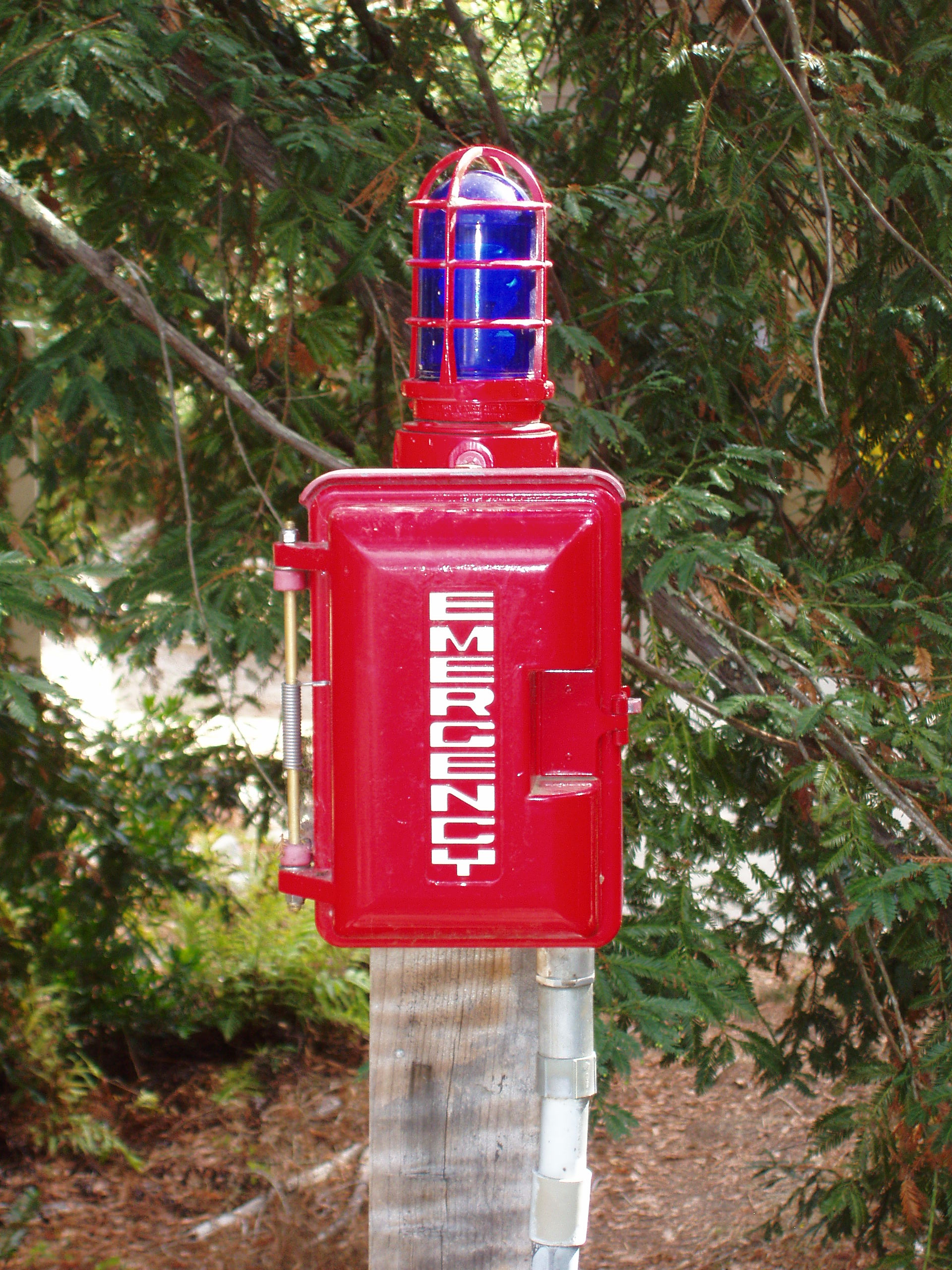 Photo of post-mounted emergency phone