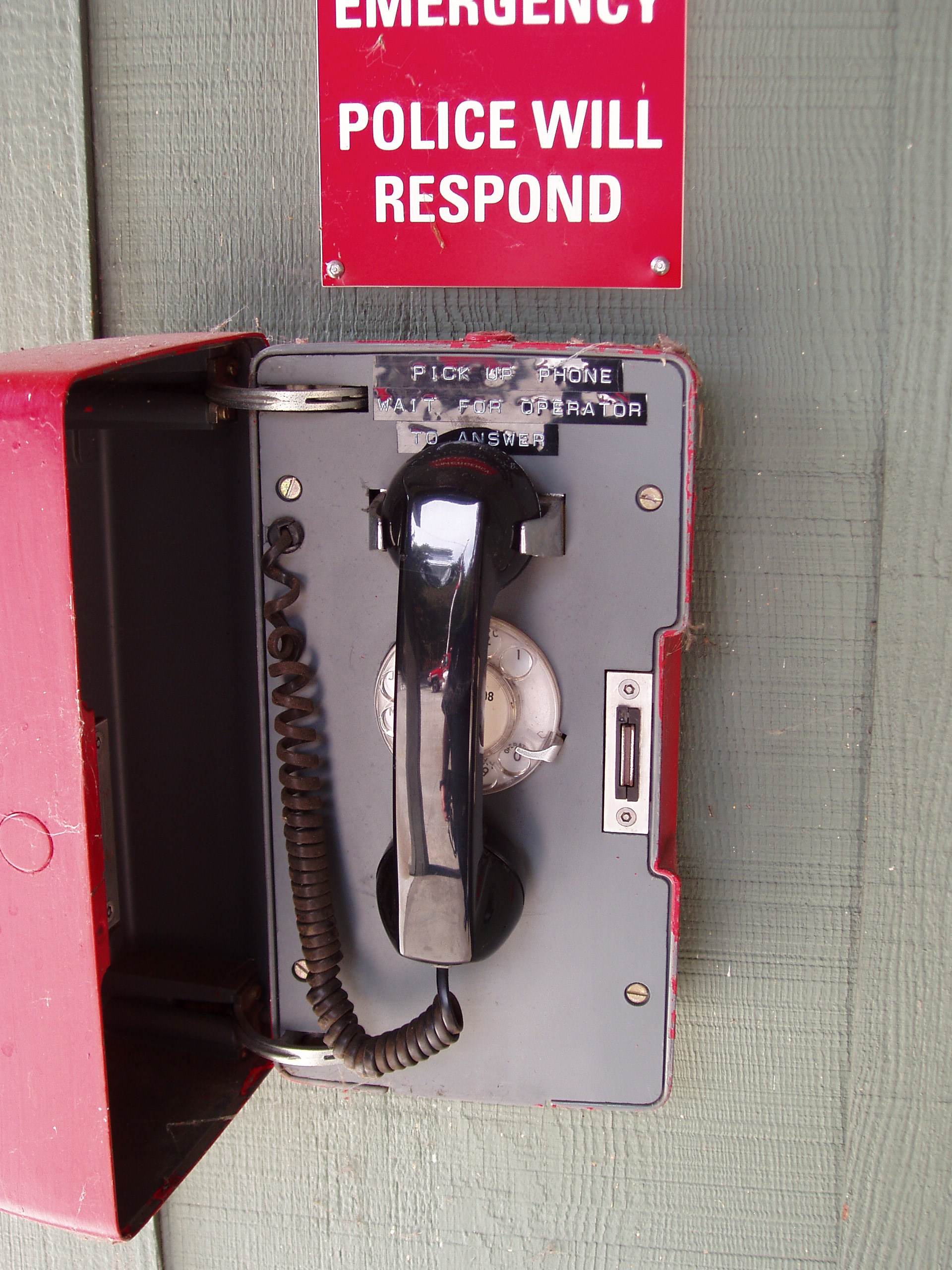 Photo of emergency phone handset