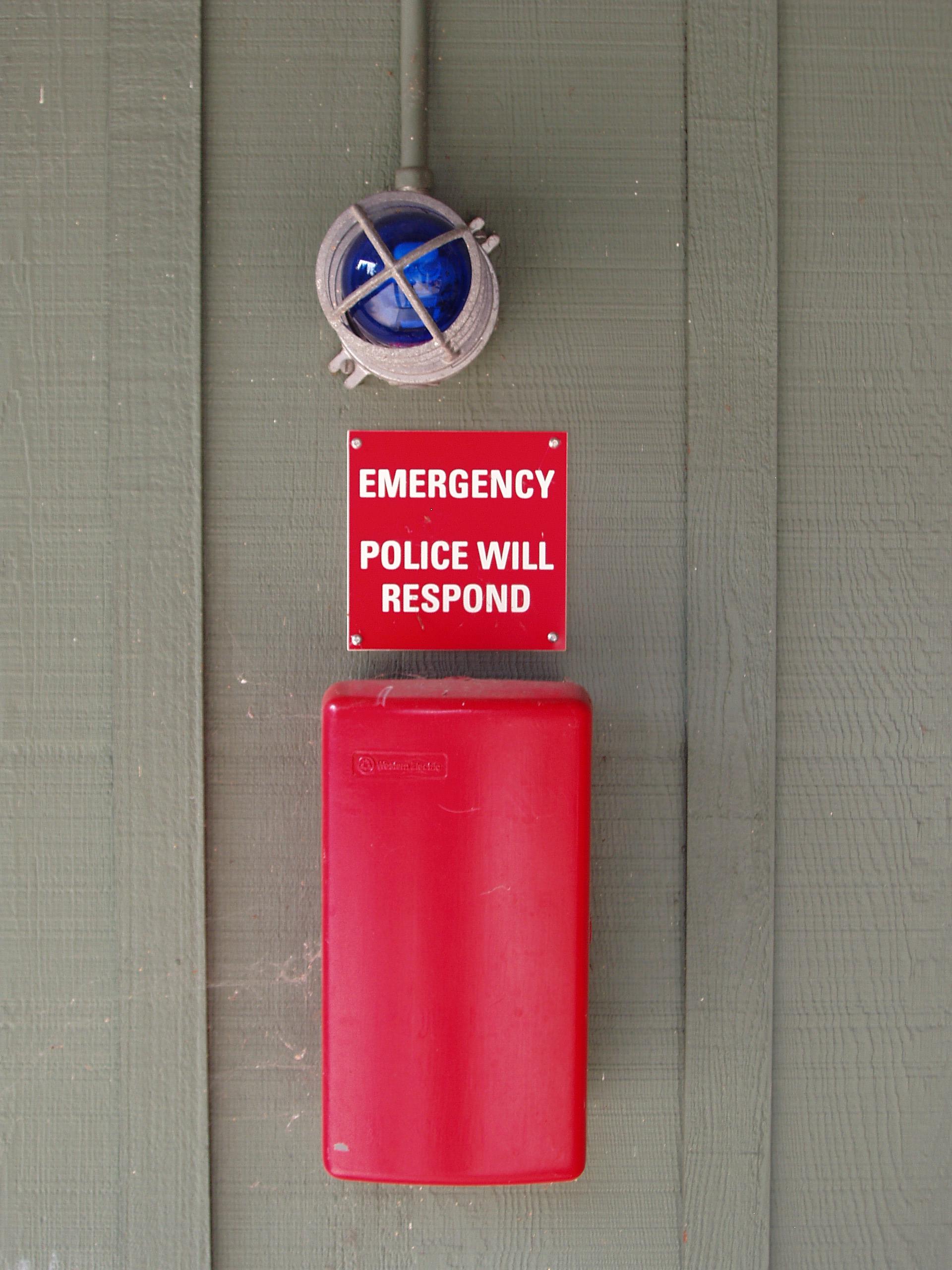 Blue Light Emergency Phones